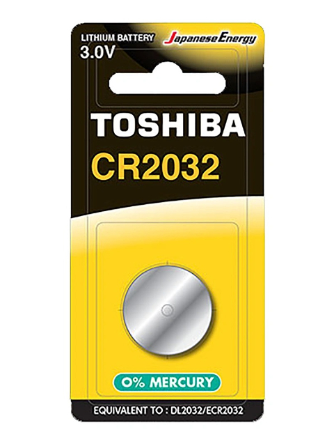 Фото - Батарейка CR2032 - Toshiba BP-1C (1шт) батарейка cr2032 toshiba pw bp 5 5шт