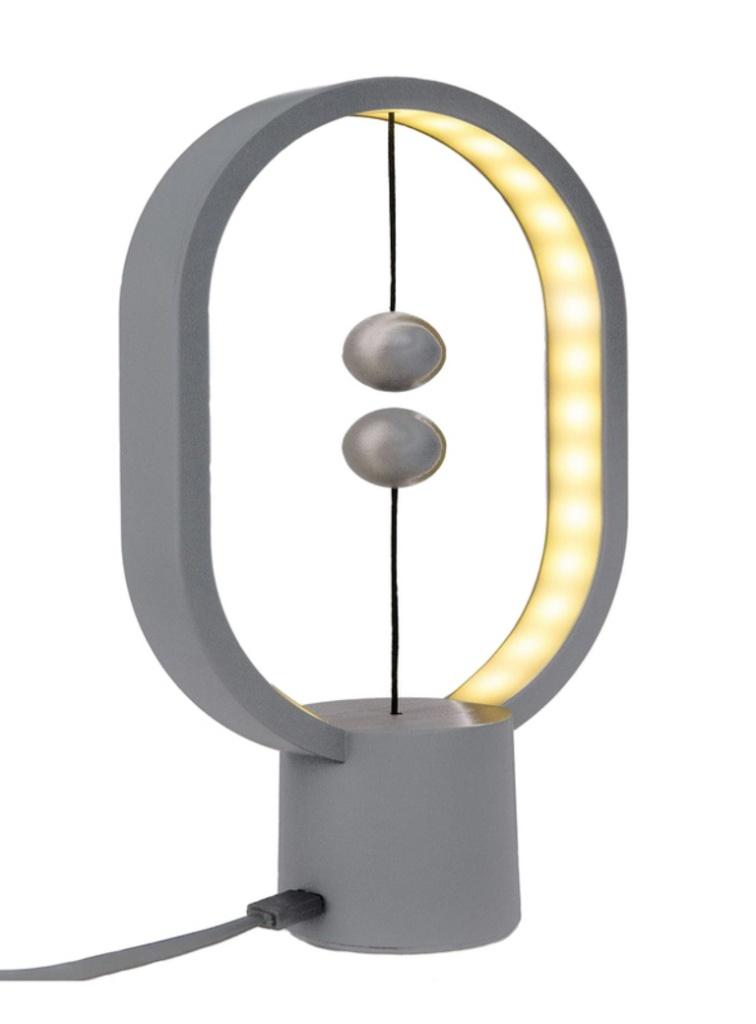 Настольная лампа Allocacoc Heng Balance Lamp Ellipse Mini Plastic Light Grey DH0098LG/HBLEMN