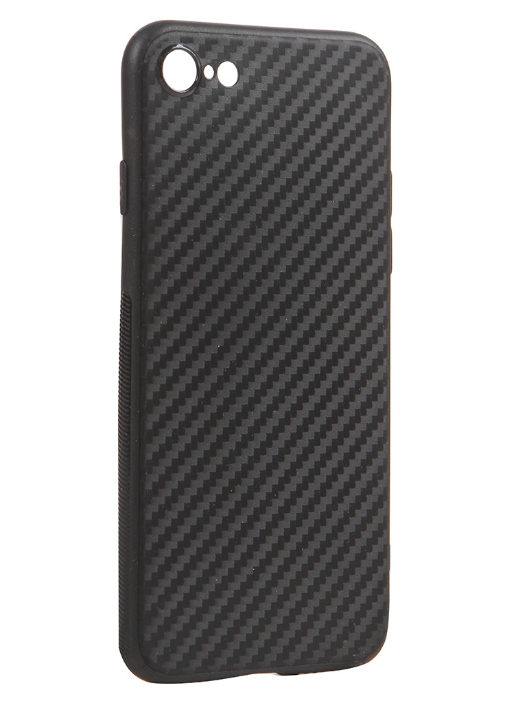 Чехол Brosco для APPLE iPhone SE 2020 Silicone Carbon Black IPSE(2020)-CARBONE-BLACK