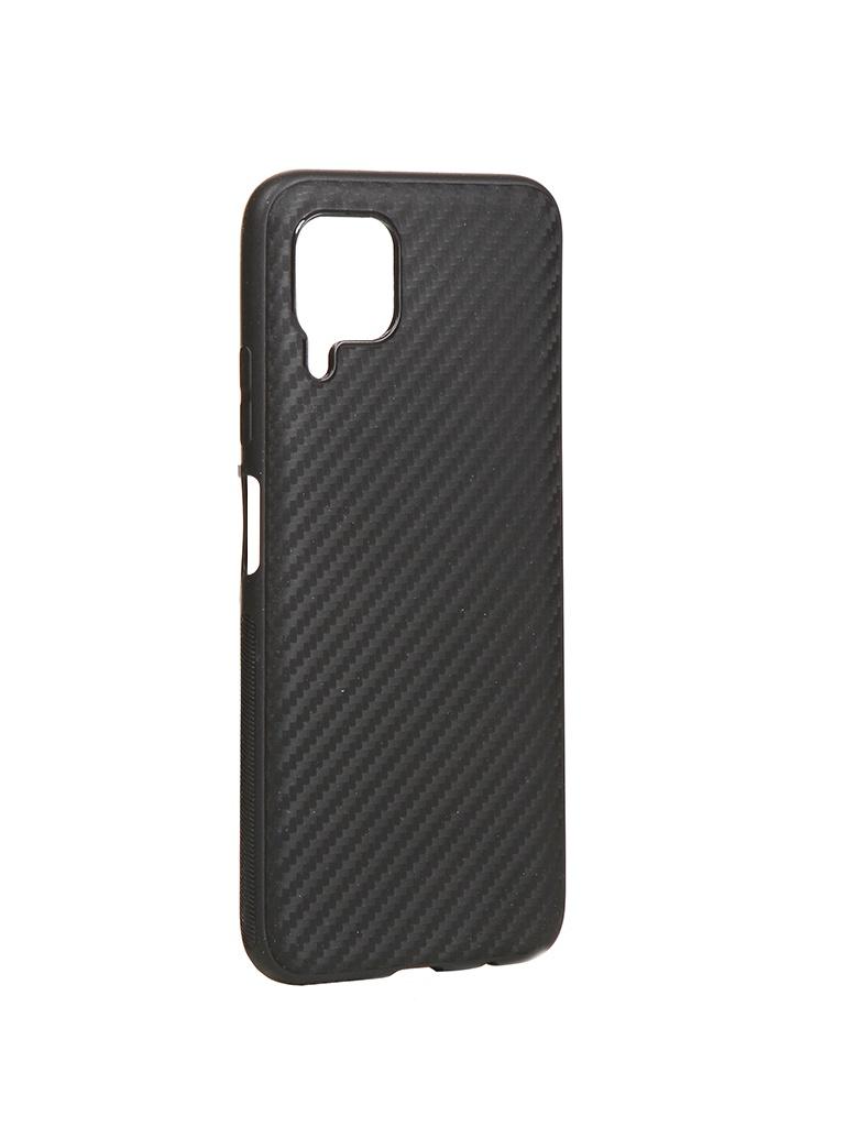 Чехол Brosco для Huawei P40 Lite Silicone Carbon Black HW-P40L-CARBONE-BLACK