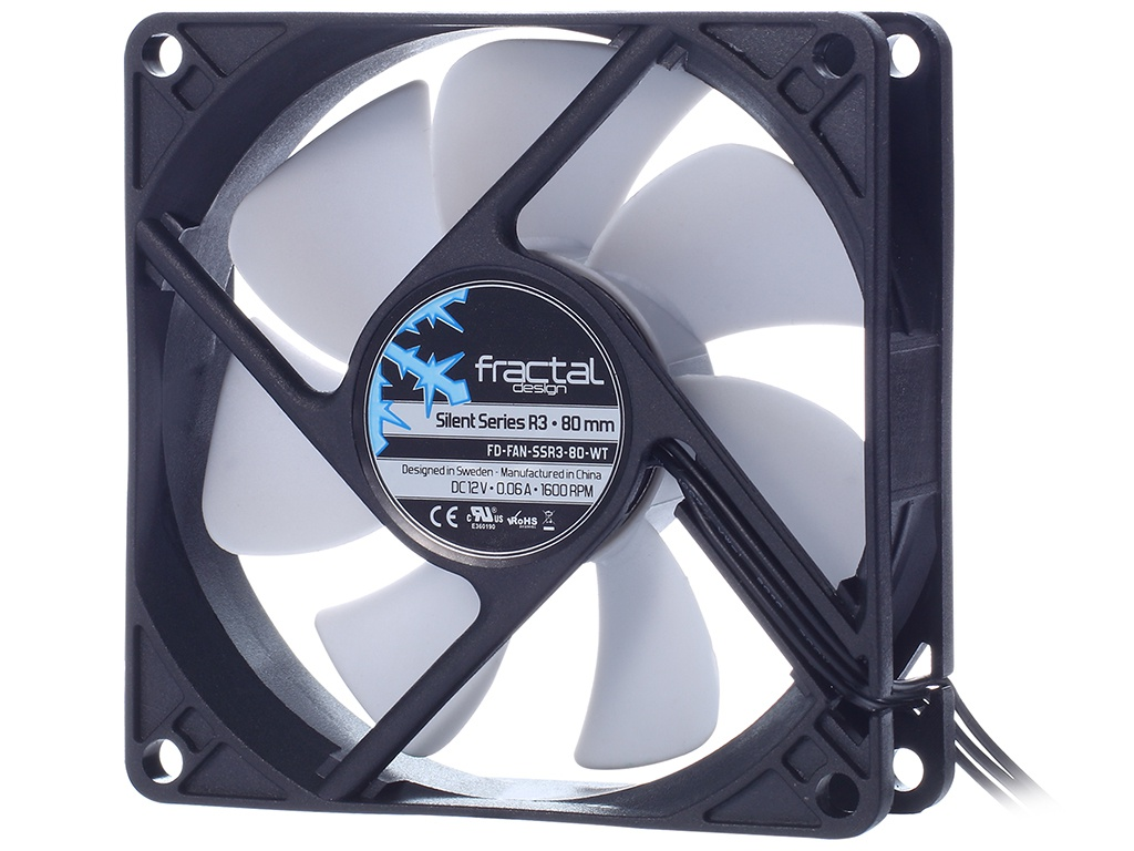 Вентилятор Fractal Design Silent Series R3 80mm FD-FAN-SSR3-80-WT