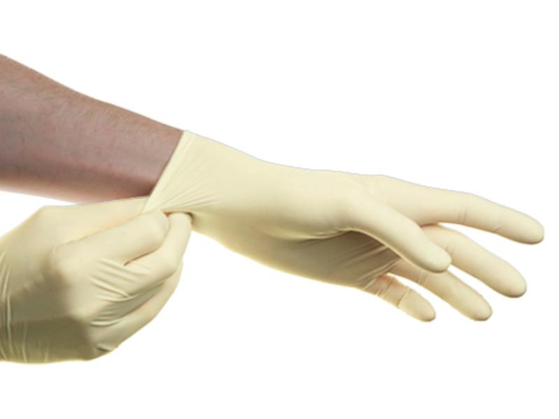 Перчатки латексные SFM опудренные, нестерильные 5 перчатки sfm смотровые нестерильные латексные р m 50 пар