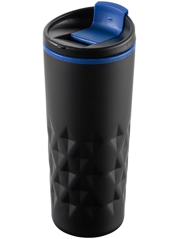 Термокружка Molti Relief 400ml Black-Blue 10759.34