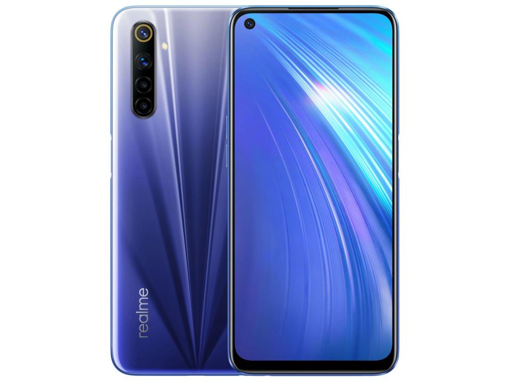 Сотовый телефон Realme 6 4/128Gb LTE Blue сотовый телефон realme 6 8 128gb lte blue