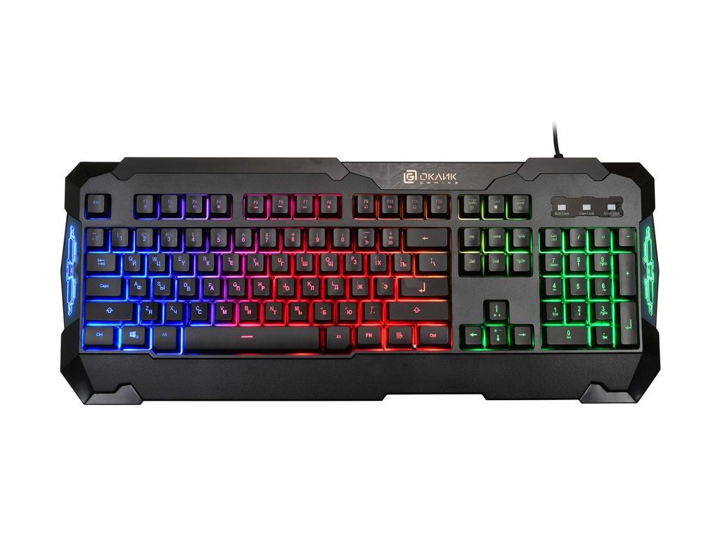 Клавиатура OKLICK 721G SHERIFF Multimedia Keyboard Black USB