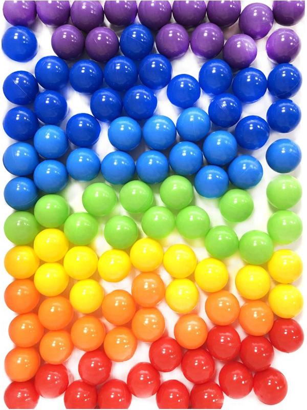Игровой центр Юг-Пласт Набор шариков Радуга 100шт 5см 2024 набор кеглей юг пласт 8000