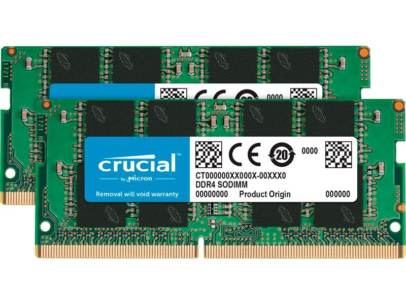 Модуль памяти Crucial DDR4 SO-DIMM 2666MHz PC21300 CL19 - 8Gb Kit (2x4Gb) CT2K4G4SFS8266 so dimm ddr4 4гб crucial ct4g4sfs824a