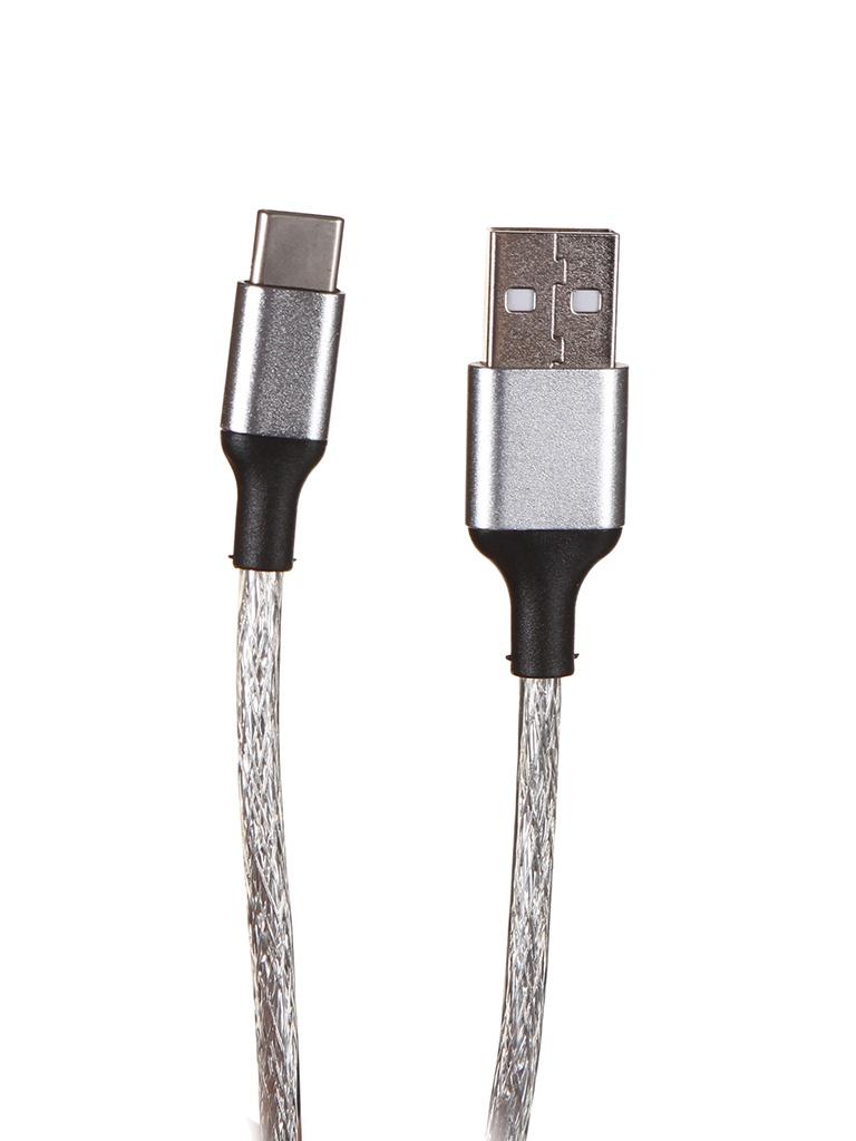Аксессуар Greenconnect USB - Type-C 1.2m Transparent GCR-52036
