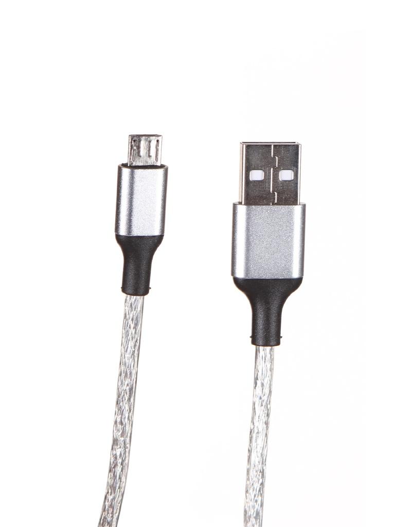 цена на Аксессуар Greenconnect USB 2.0 - MicroUSB 5pin 1.2m Transparent GCR-52034