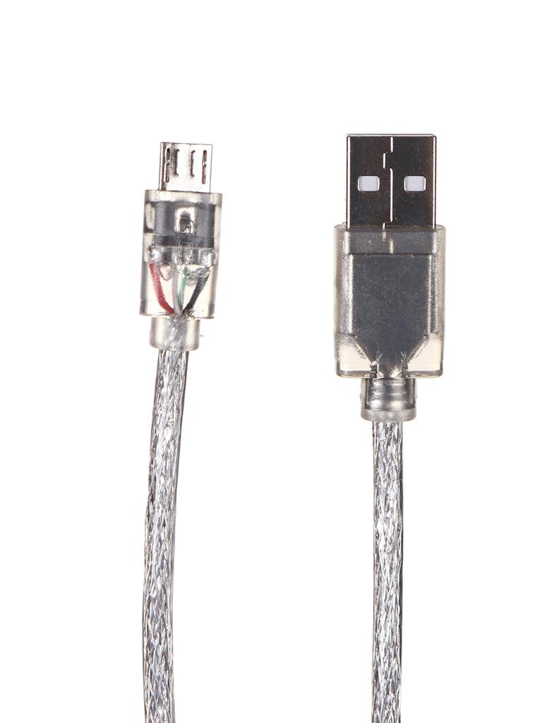 Аксессуар Greenconnect USB 2.0 - MicroUSB 3m Transparent GCR-50800