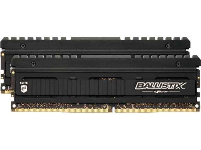 Фото - Модуль памяти Ballistix Elite DDR4 DIMM 3600MHz PC28800 CL16 - 16Gb Kit (2x8Gb) BLE2K8G4D36BEEAK модуль памяти ballistix rgb black ddr4 dimm 3600mhz pc4 28800 cl16 16gb bl16g36c16u4bl