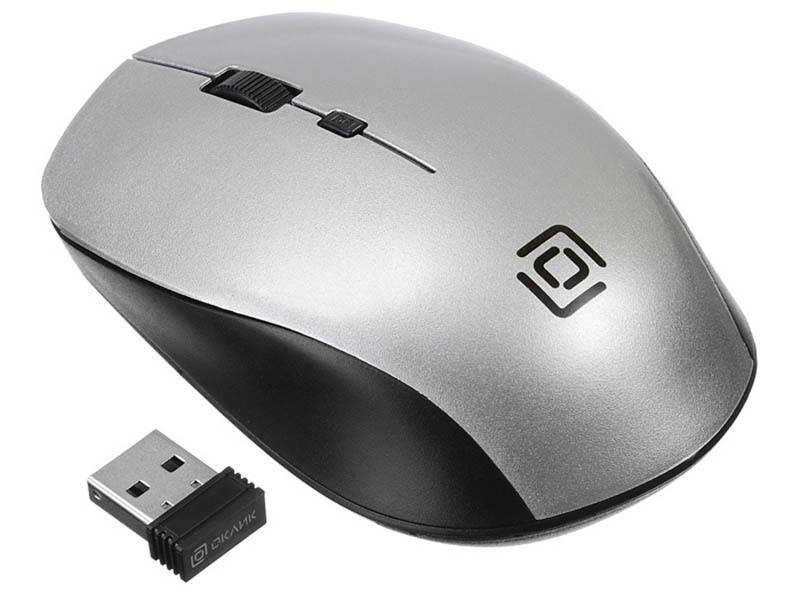 Мышь Oklick 565MW Glossy Black-Silver 1103661