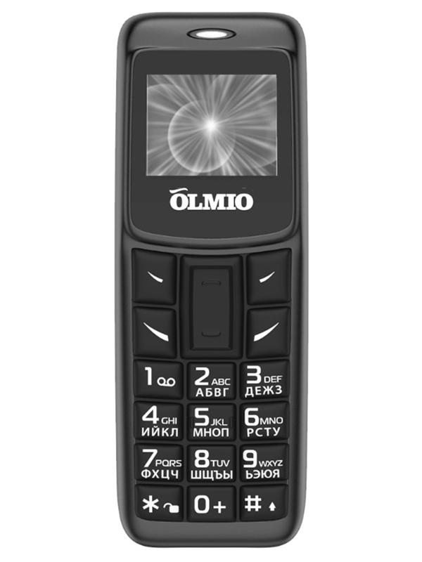 Сотовый телефон Olmio A02 Black 40325 подгузники seni super plus small 30шт se 094 sm30 a02