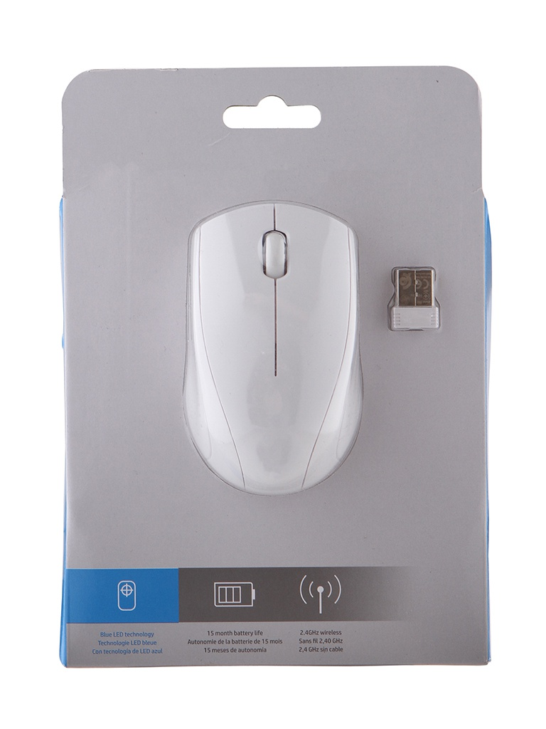 Мышь HP Wireless 220 White 7KX12AA