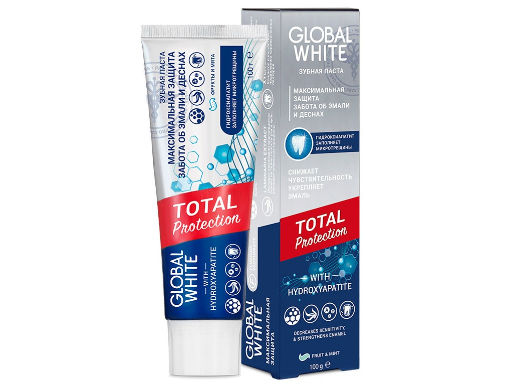 Зубная паста Global White Total Protection 100g 4605370017960