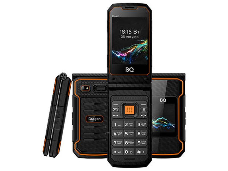 Сотовый телефон BQ 2822 Dragon Black-Orange