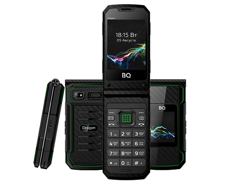 Сотовый телефон BQ 2822 Dragon Black-Green