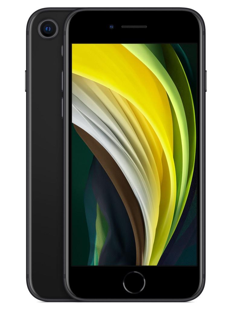 Сотовый телефон APPLE iPhone SE (2020) - 128Gb Black MXD02RU/A Выгодный набор + серт. 200Р!!! сотовый