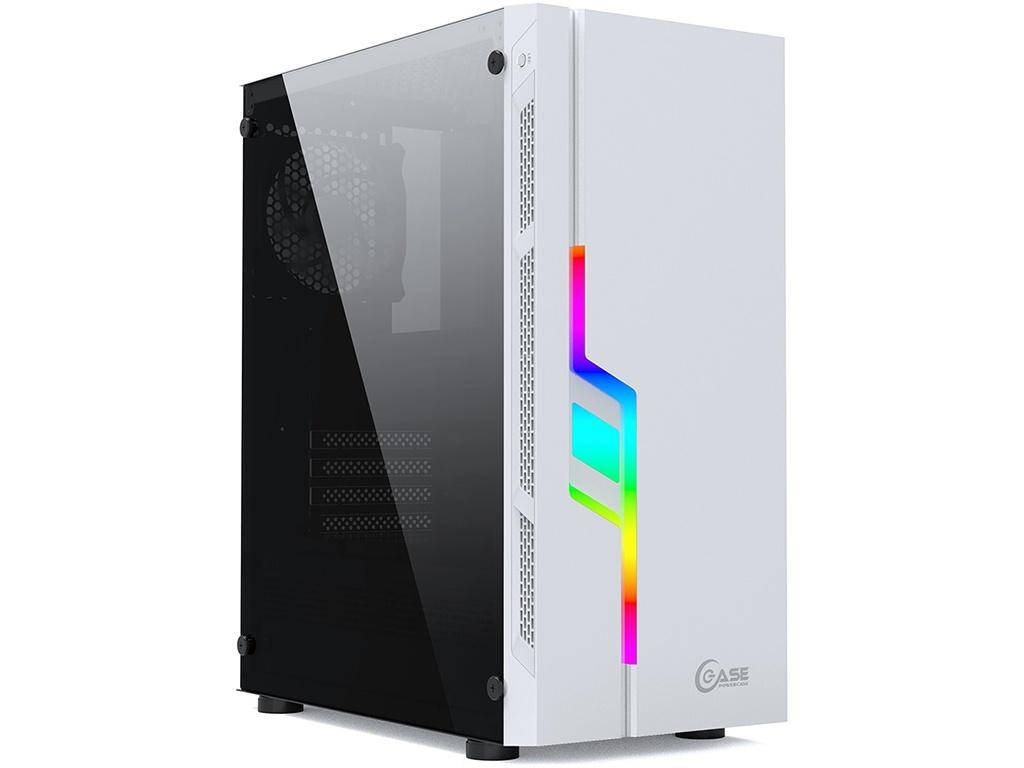 Корпус Powercase Maestro Z3 RGB Tempered Glass White ATX без БП CMAZW-F3 корпус corsair carbid series spec omega rgb cc 9011141 ww mid tower tempered glass gaming case white