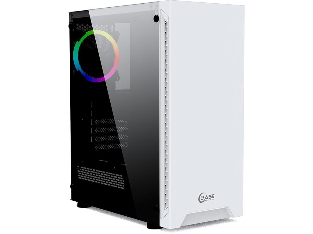 Корпус Powercase Maestro X3 Tempered Glass White ATX без БП CMAXW-F2L1