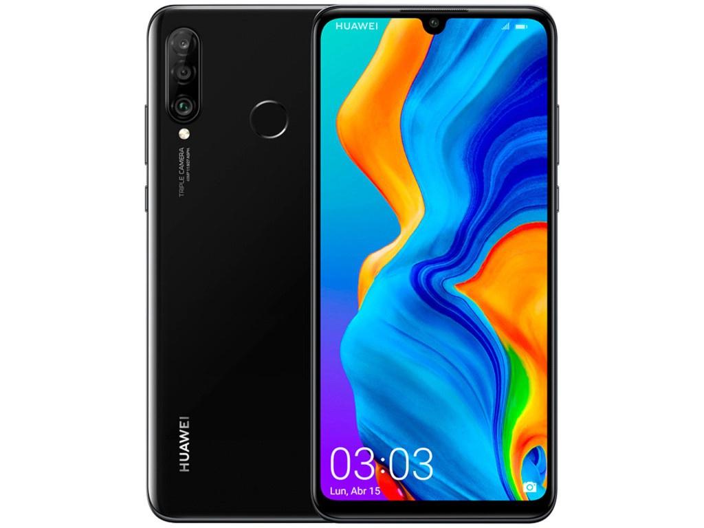 Сотовый телефон Huawei P30 Lite 6Gb/256Gb Night Black Выгодный набор + серт. 200Р!!! сотовый