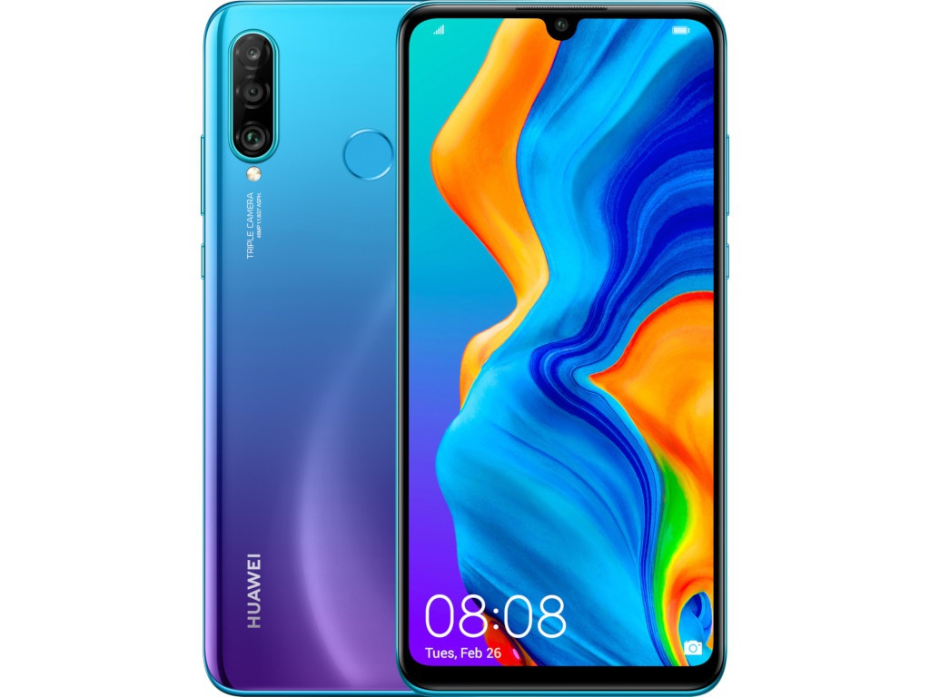 Сотовый телефон Huawei P30 Lite 6Gb/256Gb Peacock Blue Выгодный набор + серт. 200Р!!!