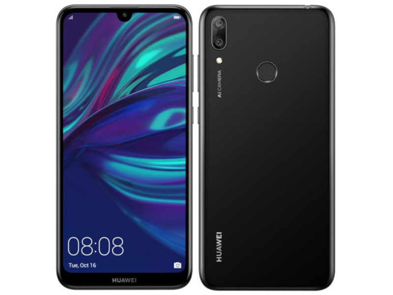 Фото - Сотовый телефон Huawei Y7 2019 4/64Gb Midnight Black Выгодный набор + серт. 200Р!!! сотовый телефон huawei y7 2019 4 64gb aurora purple