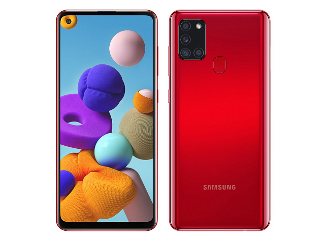 Сотовый телефон Samsung Galaxy A21s 4/64GB Red смартфон samsung galaxy s8 sm g950f 64gb жёлтый топаз