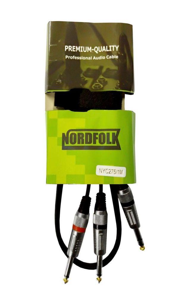 Фото - Аксессуар NordFolk Jack Stereo - 2xJack Mono 3m NYC275/3M аксессуар nordfolk 6 35mm jack mono 6 35mm jack mono 3m ngc111 3m