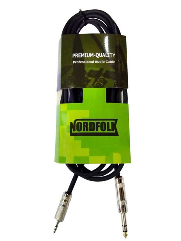 Аксессуар NordFolk 3.5mm Mini Jack Stereo - 6.3mm 1m NMC203/1M