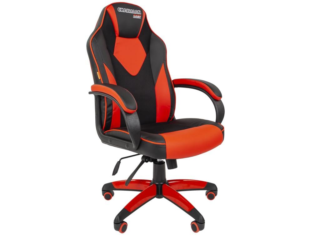 Компьютерное кресло Chairman Game 17 Black-Red 00-07024560 Выгодный набор + серт. 200Р!!!