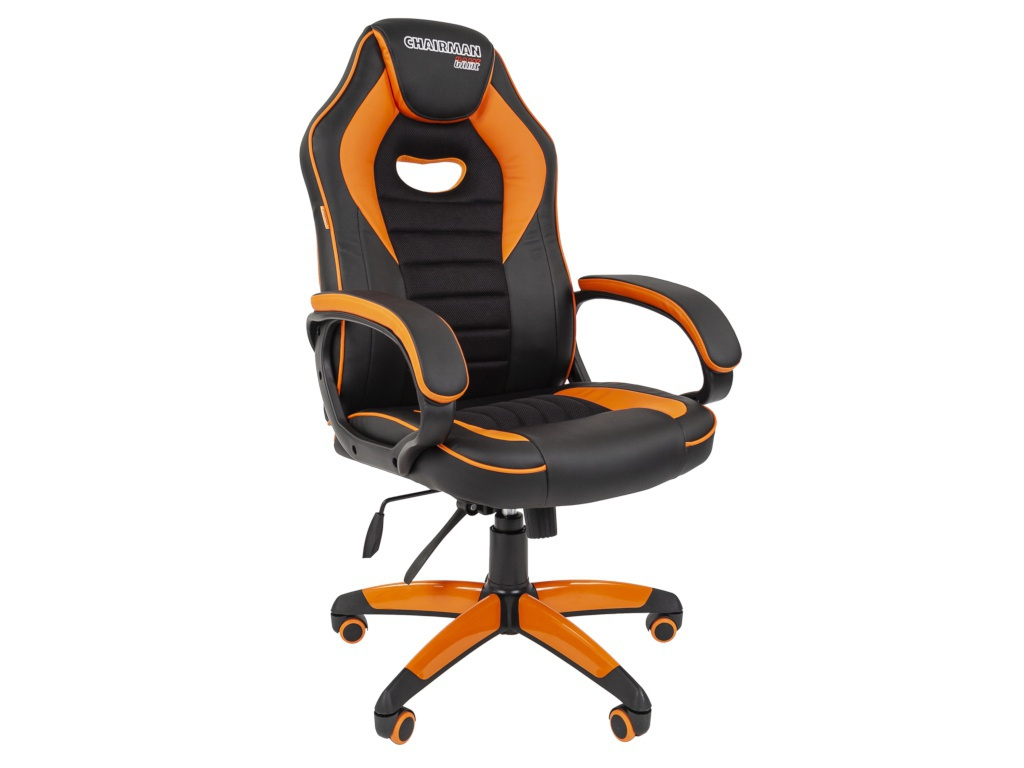 Компьютерное кресло Chairman Game 16 Black-Orange Выгодный набор + серт. 200Р!!!
