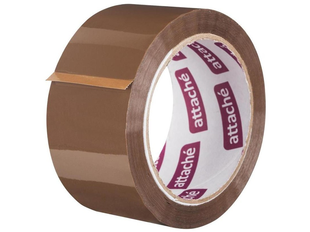 Клейкая лента Attache 50mm x 66m Brown 48339