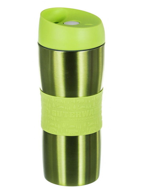 Термокружка PSF Group Guterwahl 450ml Silver-Lime Green 120-26033