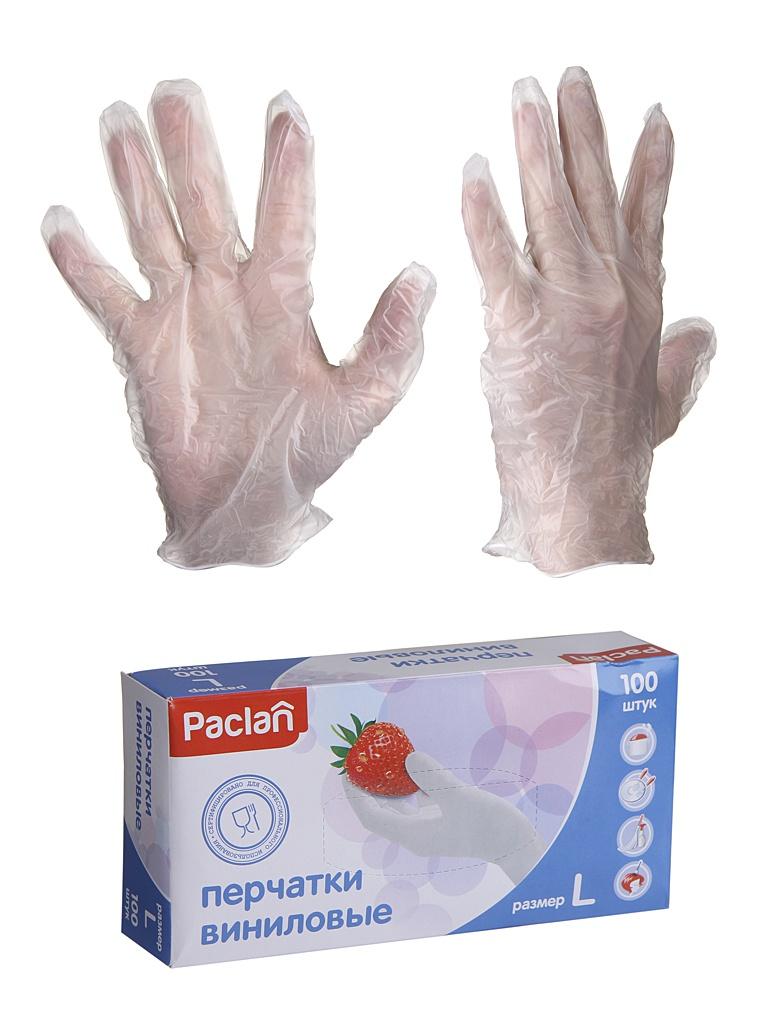 Перчатки виниловые Paclan размер L 5