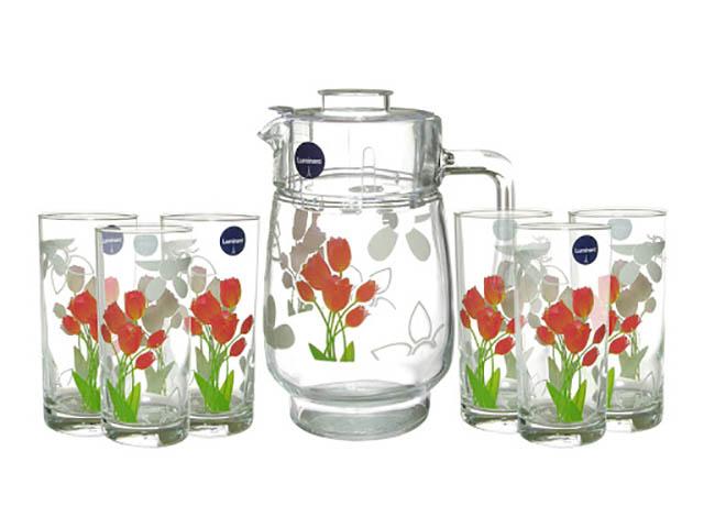 Набор питьевой Luminarc Tulips 7 предметов N0961