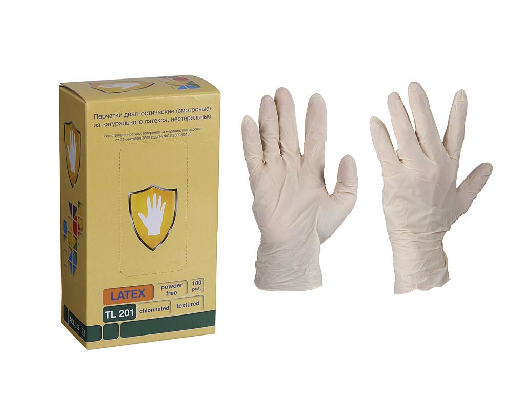 Перчатки латексные Safe and Care размер L 5