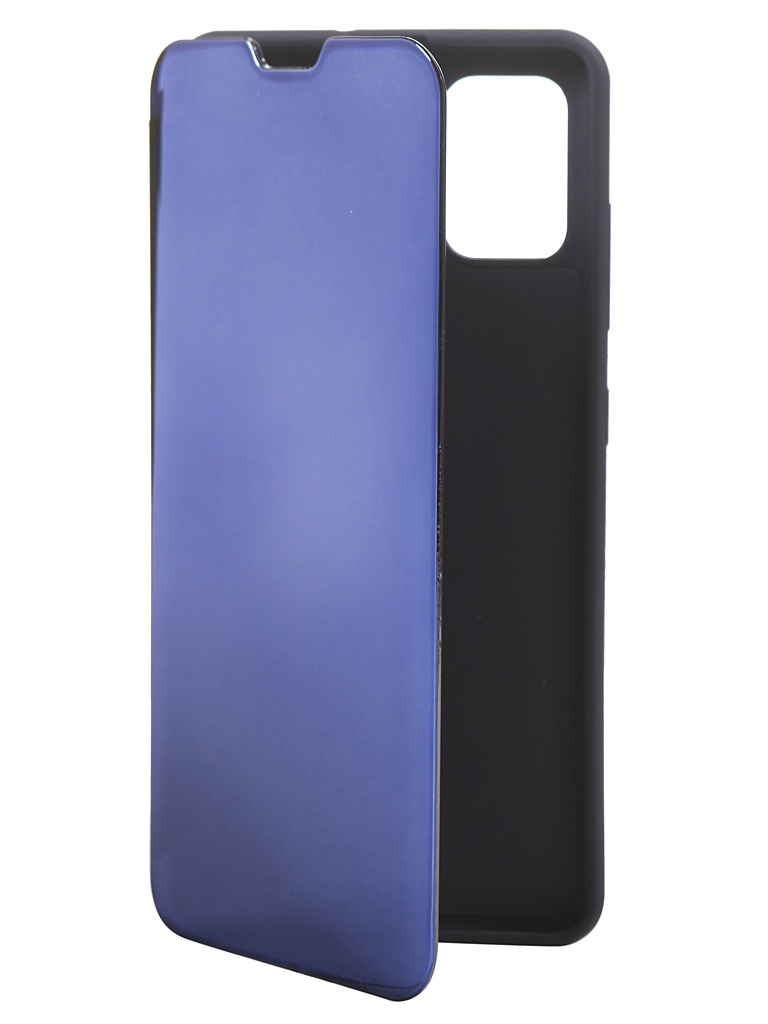 Чехол Neypo для Samsung Galaxy A51 (2020) Clear View Dark Blue NCV16766