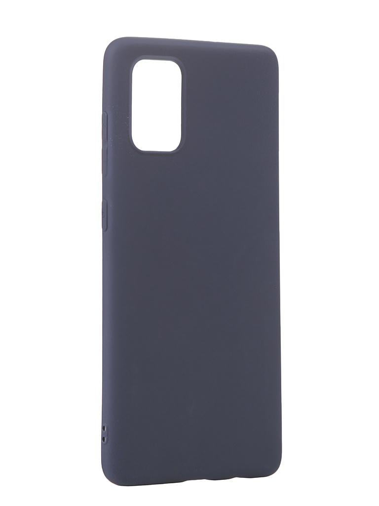 Чехол Neypo для Samsung Galaxy A71 2020 Silicone Soft Matte Dark Blue NST16153