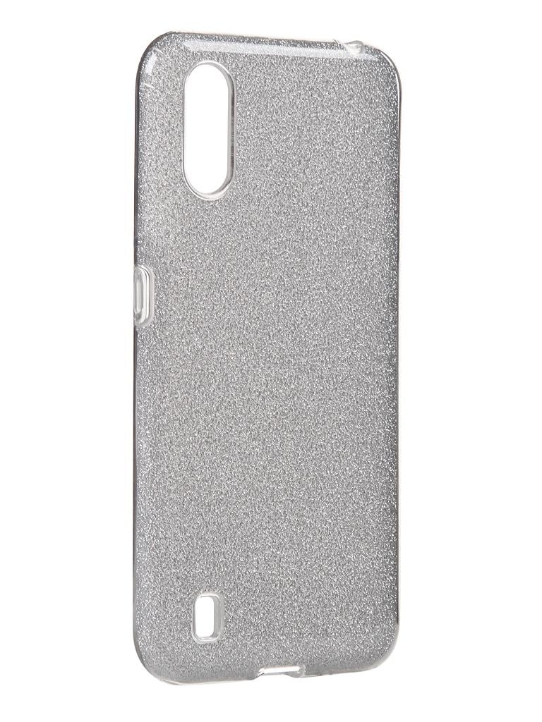 Чехол Neypo для Samsung Galaxy A01 2020 Brilliant Silicone Silver Crystals NBRL16835