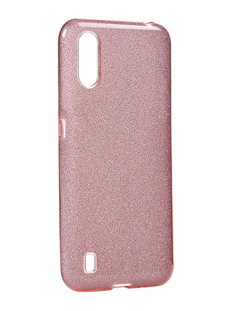 Чехол Neypo для Samsung Galaxy A01 2020 Brilliant Silicone Pink Crystals NBRL16834