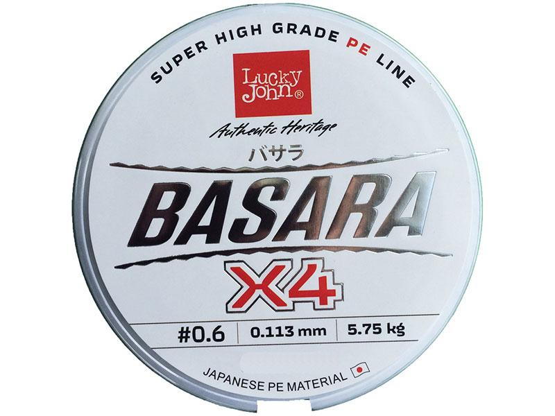 Леска Lucky John Basara 0.11mm x 125m Light Green 125/011 LJ4102-011