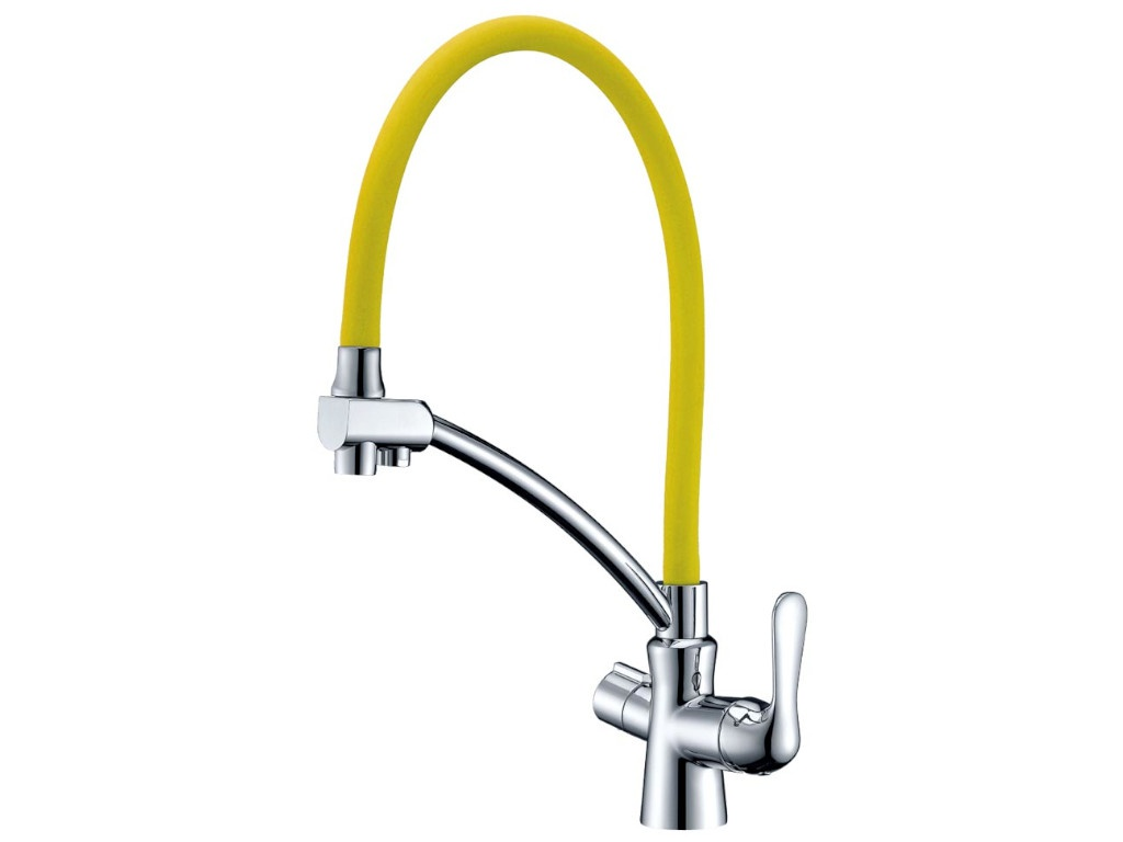 Смеситель Lemark Comfort Chrome-Yellow LM3070C-Yellow