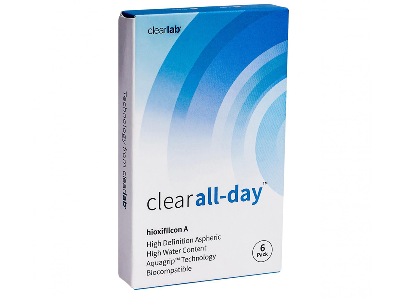Контактные линзы ClearLab Clear All-Day (6 линз / 8.6 -4)