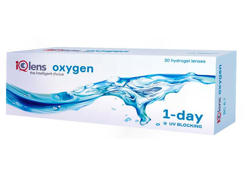 Контактные линзы iQlens Oxygen 1-Day (30 линз / 8.7 -3)