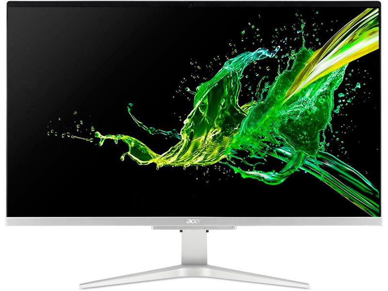 Моноблок Acer Aspire C27-962 Silver DQ.BDQER.002 (Intel Core i3-1005G1 1.2 GHz/8192Mb/256Gb SSD/nVidia GeForce MX130 2048Mb/Wi-Fi/Bluetooth/27.0/1920x1080/Windows 10 Home 64-bit)