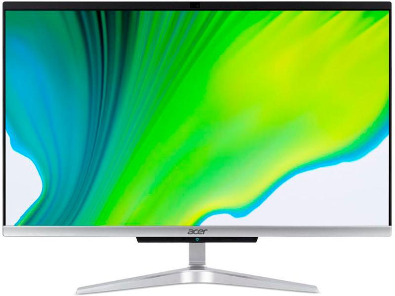 Моноблок Acer Aspire C24-963 Silver DQ.BERER.003 (Intel Core i5-1035G1 1.0 GHz/8192Mb/1000Gb + 256Gb SSD/Intel HD Graphics/Wi-Fi/Bluetooth/23.8/1920x1080/Endless OS)