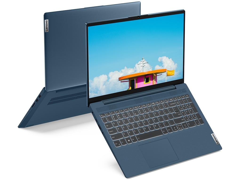 Ноутбук Lenovo IdeaPad 5 15IIL05 Blue 81YK001FRK (Intel Core i3-1005G1 1.2GHz/8192Mb/256Gb SSD/Intel HD Graphics/Wi-Fi/Bluetooth/Cam/15.6/1920x1080/DOS)