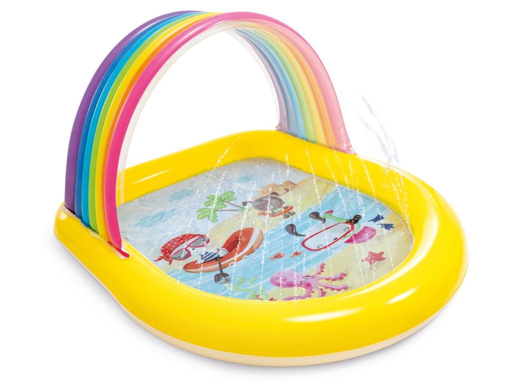 Детский бассейн Intex Радуга 147x130x86cm 57156