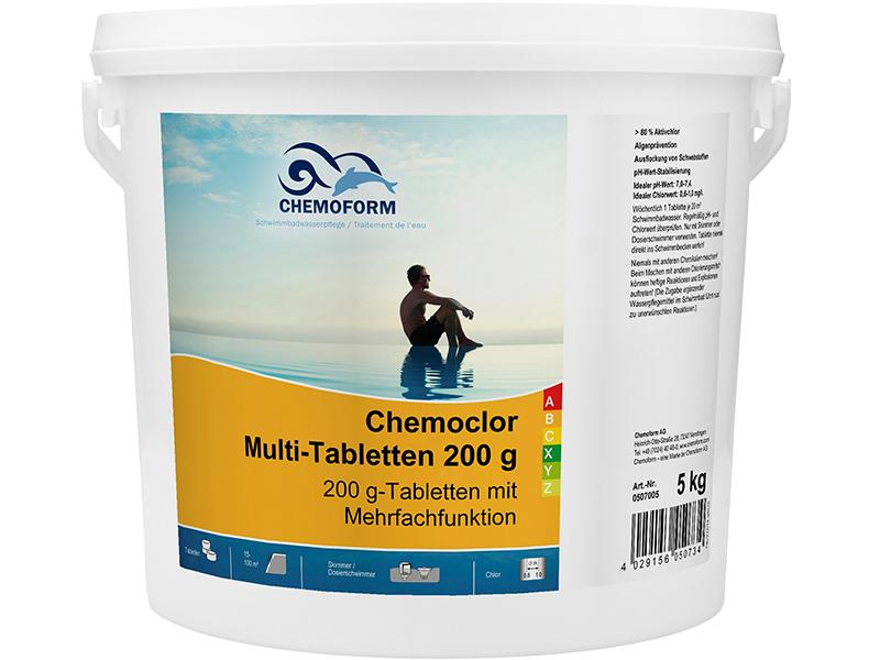 цена на Средство дезинфекции Chemoform Мульти-таблетки 200g 5kg 0507005